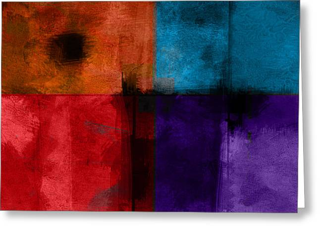abstract - art- Color Block Square Greeting Card by Ann Powell