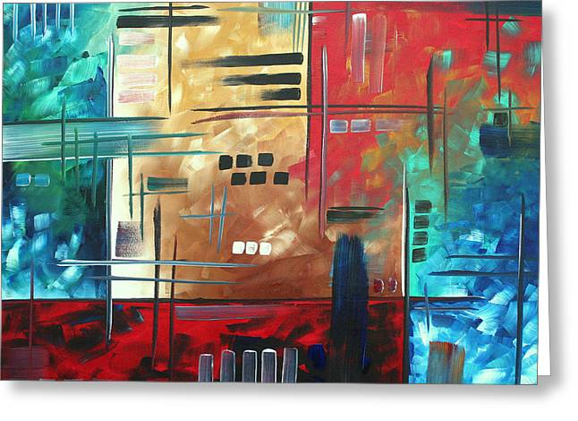 Bold Style Greeting Cards - Abstract Art - Color Rush - Original Painting MADART Greeting Card by Megan Duncanson