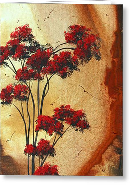 Abstract Art Colorful Original Landscape Painting Birds Aloft By Madart Greeting Card by Megan Duncanson