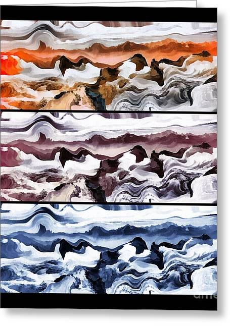 Czintos Abstract Greeting Cards - Abstract art colors Greeting Card by Odon Czintos