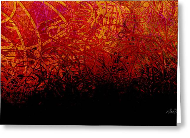 Bold Contrast Greeting Cards - abstract - art- Fire Dance  Greeting Card by Ann Powell