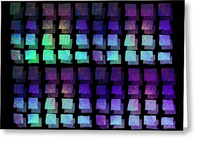 Bold Contrast Greeting Cards - abstract - art- Floating Squares Greeting Card by Ann Powell