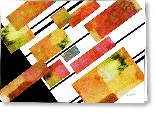 Bold Style Greeting Cards - abstract art Homage to Mondrian Greeting Card by Ann Powell
