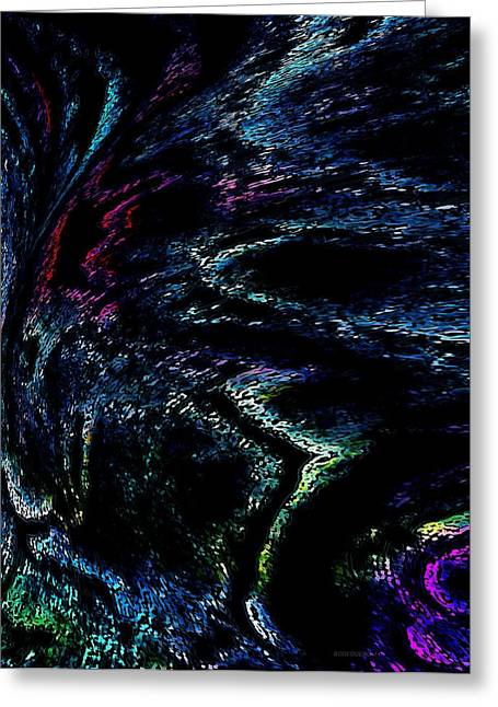 Abstract Art In Digital Design Greeting Card by Mario Perez