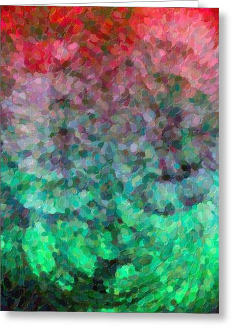 Abstract Art Mixed Colors Greeting Card by Toppart Sweden