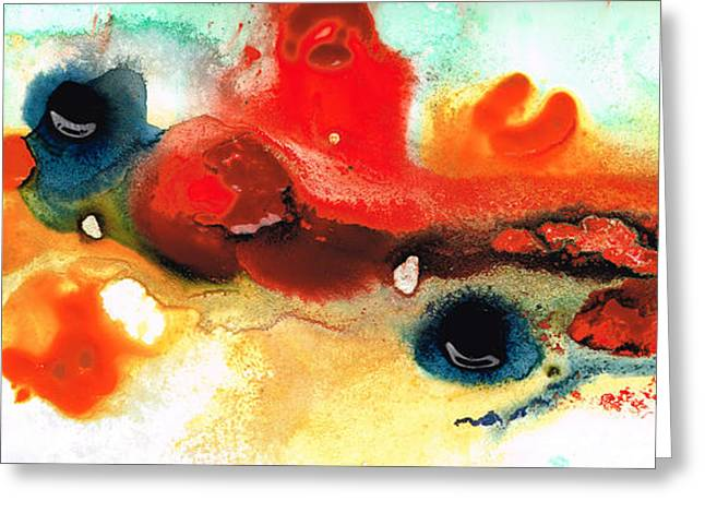 Bold Art Greeting Cards - Abstract Art - No Limits - By Sharon Cummings Greeting Card by Sharon Cummings