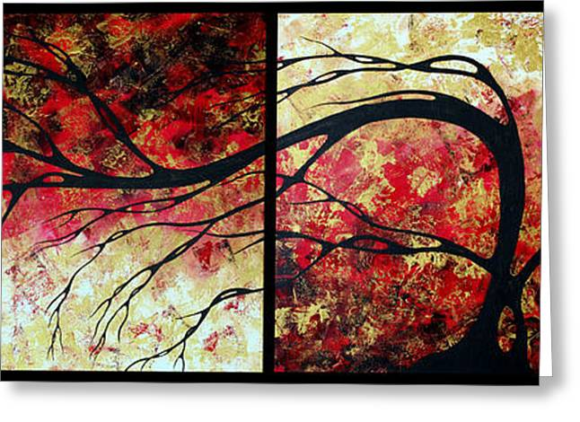 Sienna Greeting Cards - Abstract Art Original Landscape Painting BRING ME HOME by MADART Greeting Card by Megan Duncanson
