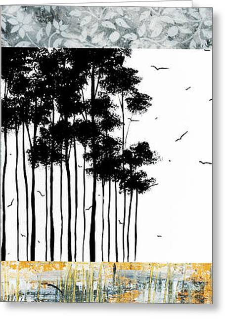 Licensor Greeting Cards - Abstract art Original Landscape Pattern Painting by Megan Duncanson Greeting Card by Megan Duncanson