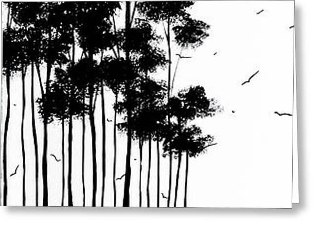 Abstract art Original Landscape Pattern Painting by Megan Duncanson Greeting Card by Megan Duncanson