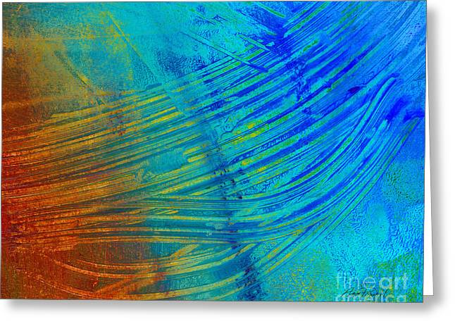 Horizontal Wall Art Greeting Cards - Abstract Art  Painting Freefall by Ann Powell Greeting Card by Ann Powell