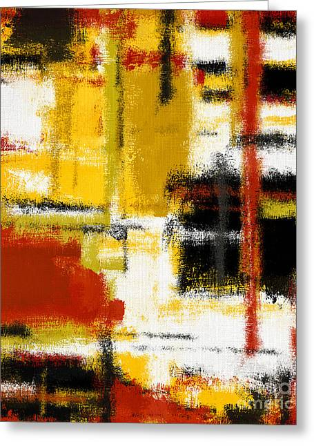 White Cloth Greeting Cards - Abstract Art Painting Greeting Card by Giuseppe Persichino