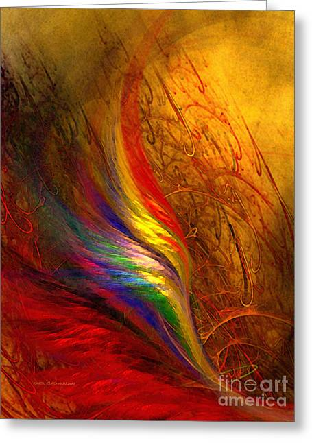 Large Sized Greeting Cards - Abstract Art Print Sayings Greeting Card by Karin Kuhlmann