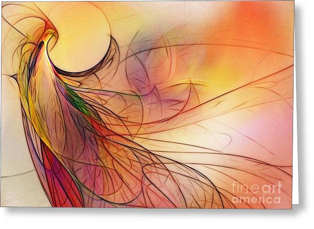 Contemplative Greeting Cards - Abstract Art Print Sunday Morning Sidewalk Greeting Card by Karin Kuhlmann