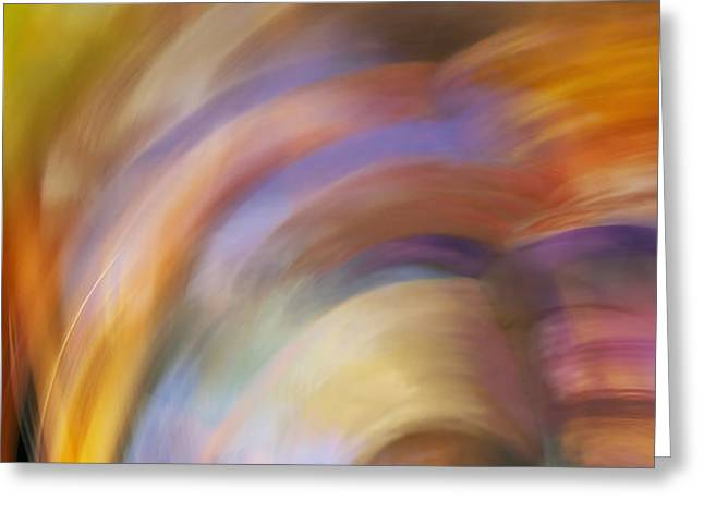 Abstract Art - Spring in Paris Greeting Card by Laria Saunders