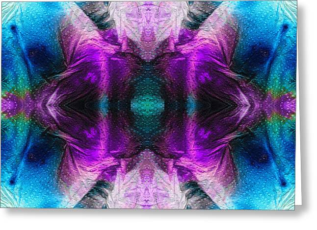 Blue And Purple Abstract Greeting Cards - Abstract Art - Stargazer - By Sharon Cummings Greeting Card by Sharon Cummings