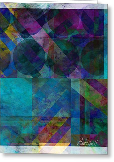 Geometric Digital Art Greeting Cards - abstract - art - Stripes Five  Greeting Card by Ann Powell