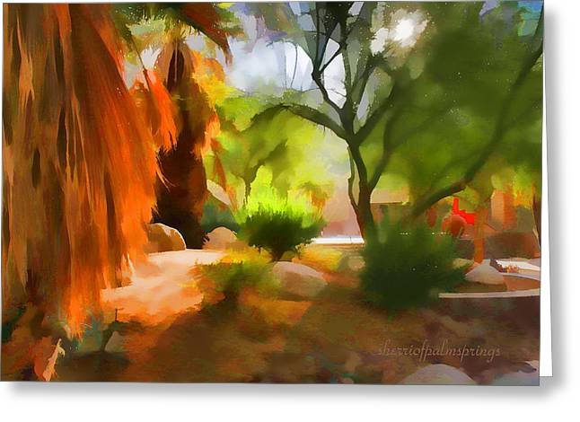 Greeting Cards - Expreesionisn Art Beauty Of The Desert Greeting Card by Sherri  Of Palm-Springs
