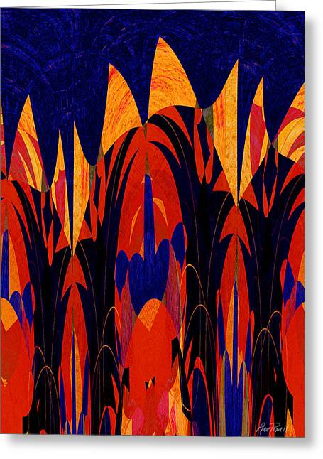 Abstract Art For Sale Digital Art Greeting Cards - abstract art - Tropical Fever Greeting Card by Ann Powell