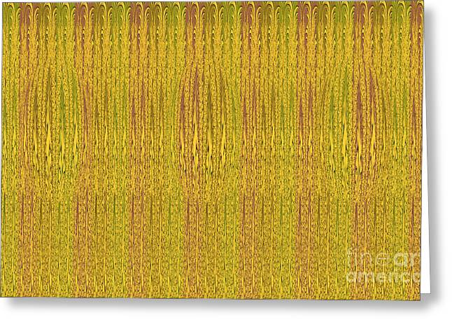 Repetition Tapestries - Textiles Greeting Cards - Abstract autumn forest Greeting Card by Lali Kacharava