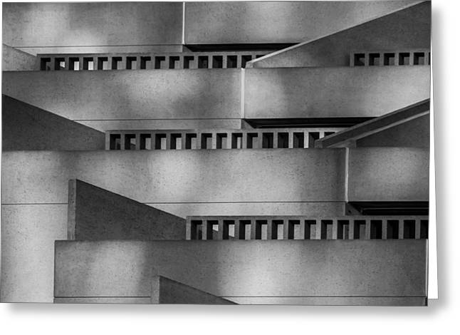 Bill Gallagher Greeting Cards - Abstract Balcony Greeting Card by Bill Gallagher