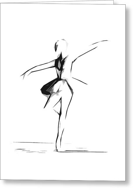 Ballerina Digital Greeting Cards - Abstract Ballerina Dancing Greeting Card by Stefan Kuhn