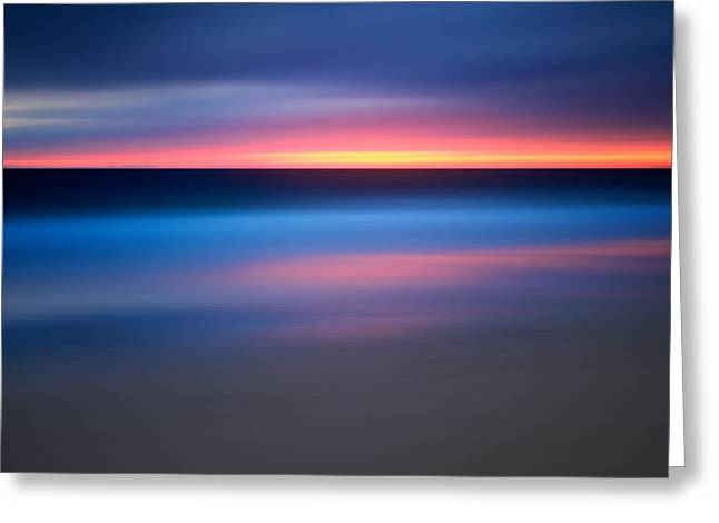 Abstract Beach Sunset Greeting Card by Katherine Gendreau