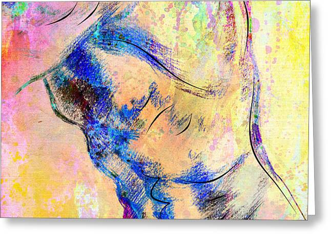 abstract bod 6 Greeting Card by Mark Ashkenazi