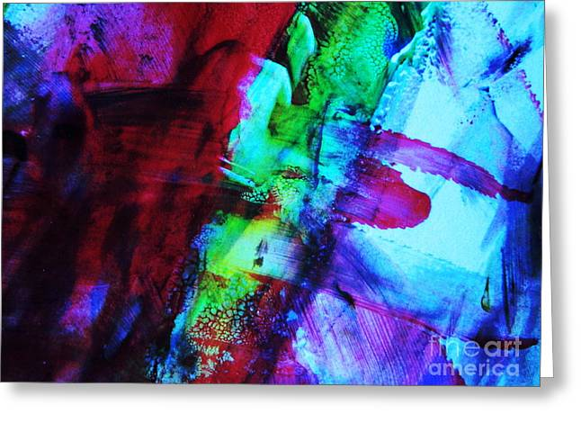 New Mind Greeting Cards - Abstract Bold colors Greeting Card by Andrea Anderegg