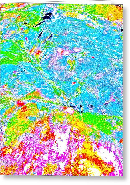 Stream Greeting Cards - Abstract Brook Bits 54 Greeting Card by George Ramos