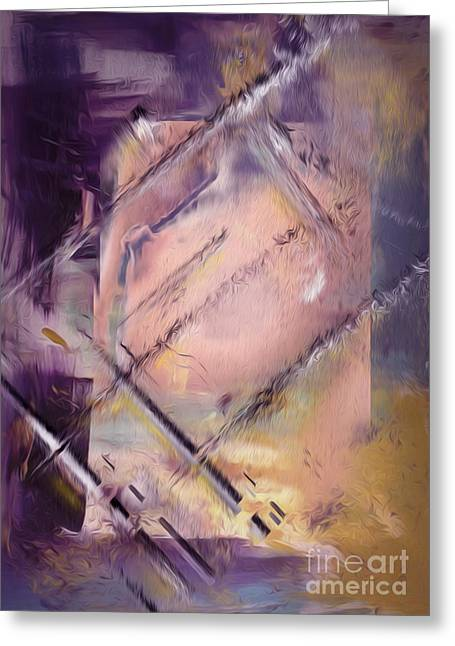 Abstract Greeting Card by Bruno Santoro