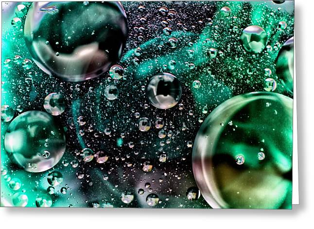 Fizzy Greeting Cards - Abstract Bubbles Greeting Card by Stylianos Kleanthous