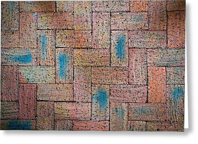 Burned Clay Greeting Cards - Abstract Burnt Bricks Greeting Card by Jozef Jankola