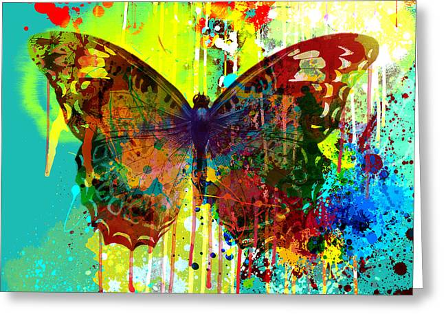 Abstract Butterfly Greeting Card by Gary Grayson