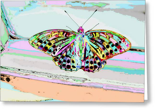 Colours Mixed Media Greeting Cards - Abstract Butterfly Greeting Card by Marianna Mills