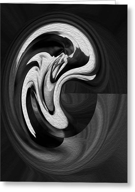 Calla Lily Greeting Cards - Abstract Calla Lily oil digital painting Greeting Card by Georgeta Blanaru