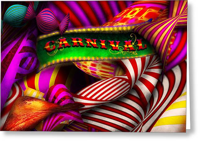 Abstract - Carnival Greeting Card by Mike Savad