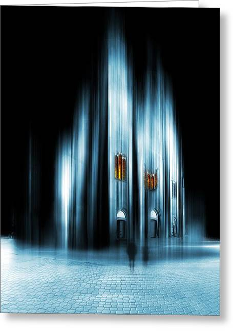Religious Art Digital Art Greeting Cards - Abstract cathedral Greeting Card by Jaroslaw Grudzinski