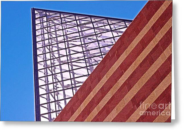 Tennessee Landmark Greeting Cards - Abstract Chattanooga Aquarium  Greeting Card by Tom Gari Gallery-Three-Photography