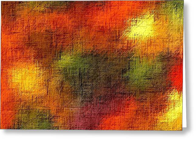 Gospel Of Matthew Greeting Cards - Abstract Chrisitan Earth Tones II Greeting Card by L Brown