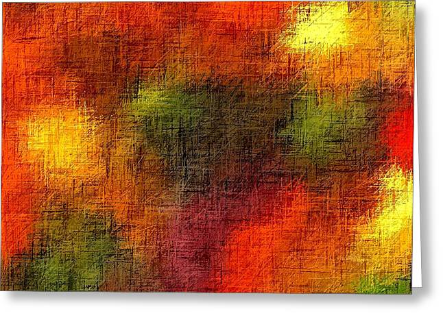 Gospel Of Matthew Greeting Cards - Abstract Christian Earthtones Greeting Card by L Brown