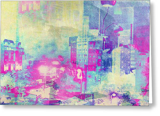 Beauty Mark Photographs Greeting Cards - Abstract City Greeting Card by Mark-Meir Paluksht
