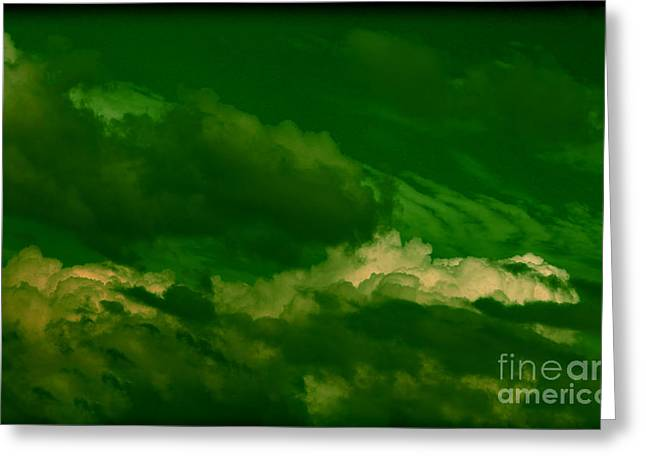 Turbulent Skies Greeting Cards - Abstract clouds Greeting Card by Claudia Mottram