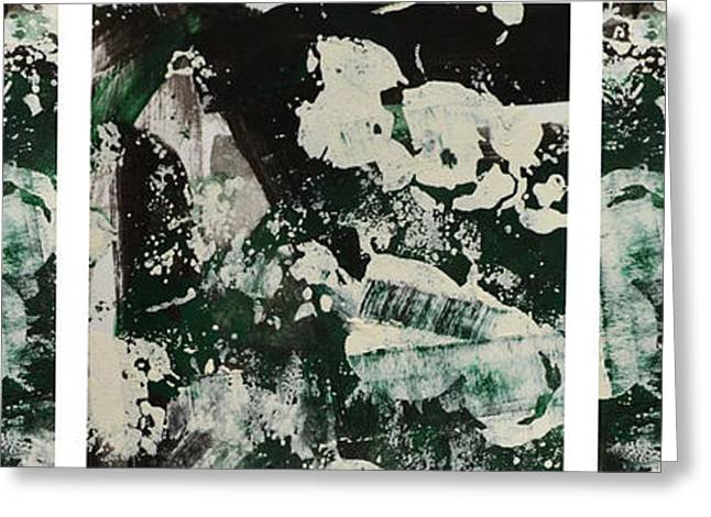 Bold Style Greeting Cards - Abstract Collage Greeting Card by Andrea Anderegg