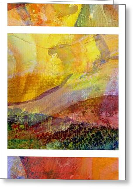 Dribble Greeting Cards - Abstract Collage No. 2 Greeting Card by Michelle Calkins