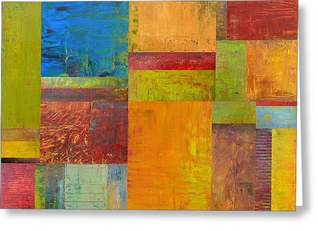 Abstract Color Study Collage ll Greeting Card by Michelle Calkins