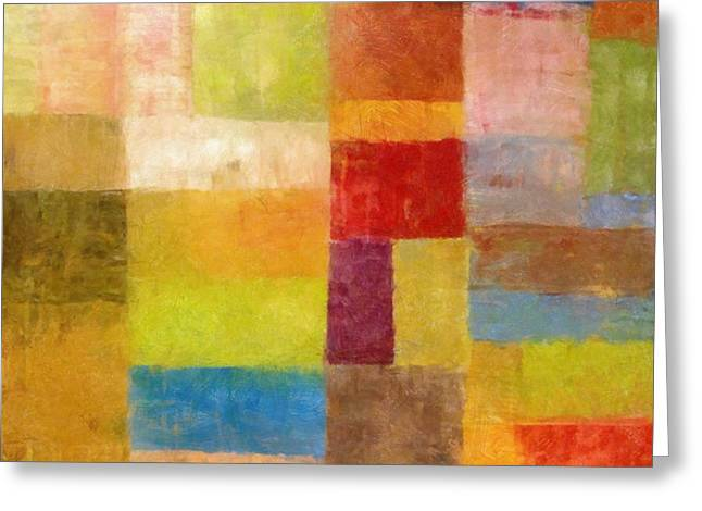 Abstract Color Study Vii Greeting Card by Michelle Calkins