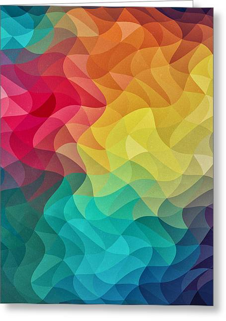 Top Selling Digital Art Greeting Cards - Abstract Color Wave Flash Greeting Card by Philipp Rietz