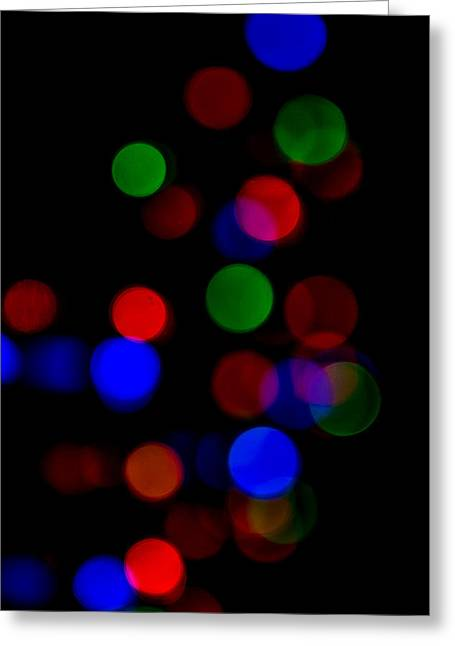 Sec Greeting Cards - Lights in the Dark Greeting Card by E Faithe Lester