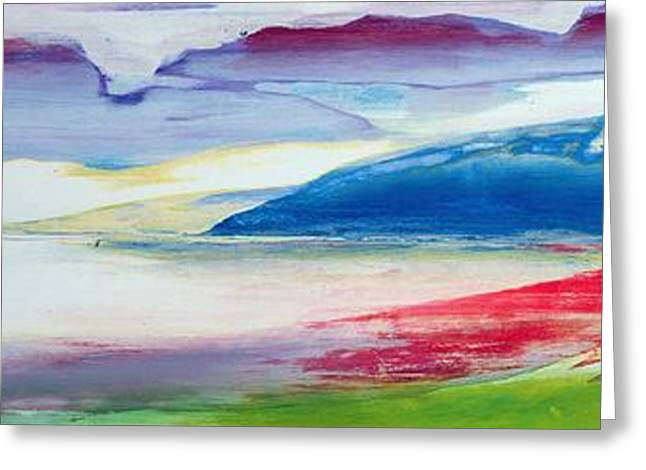 Blending Greeting Cards - Abstract Composition Greeting Card by Lou Gibbs