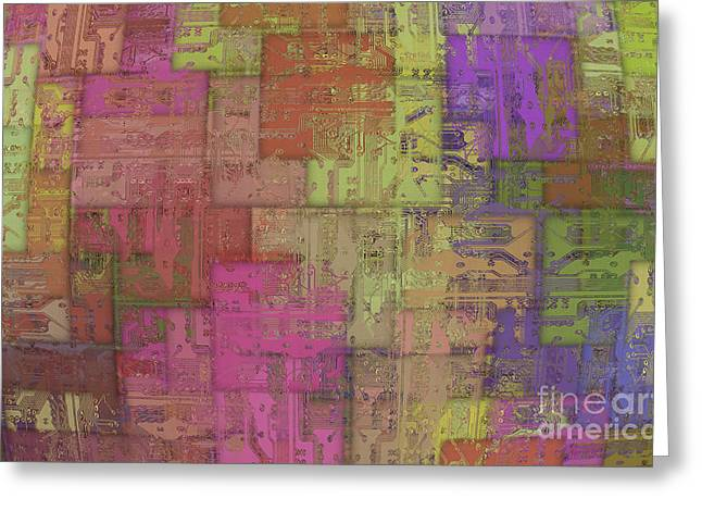 Component Digital Art Greeting Cards - Printed Circuit Greeting Card by Michal Boubin